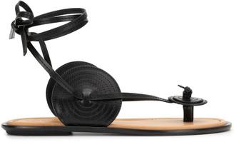 Loewe Disc-detail tie-ankle sandal