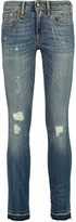 R 13 Kate low-rise distressed skinny jeans