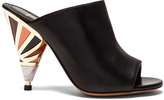 Givenchy Leather Multicolor Heel Mules