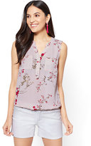 New York & Co. Soho Soft Shirt - Sleeveless Popover - Floral