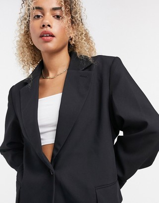 Weekday Rumi oversized blazer in black