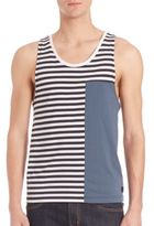 Madison Supply Striped Colorblock Tank Top