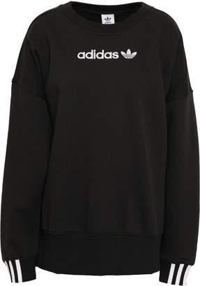 adidas Oversized Embroidered Cotton-blend Fleece Sweatshirt