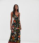 Parisian Tall Parisia Tall cami maxi dress in border floral print