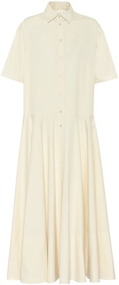 The Row Exclusive to Mytheresa Reina cotton shirt dress