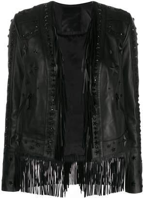 Philipp Plein fringe leather jacket