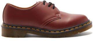 Comme des Garcons X Dr Martens Lace-up Leather Derby Shoes - Womens - Red