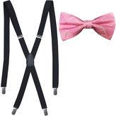 Jf J.Ferrar JF Tonal Grid Bow Tie and Suspender Set
