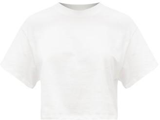x karla The Crop Cotton-jersey T-shirt - White