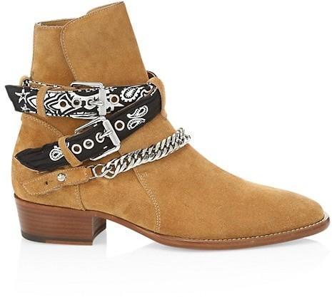 Amiri Bandana Buckle Leather Boot