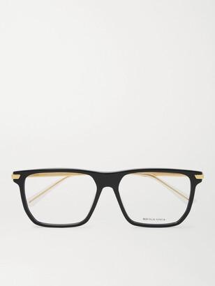 Bottega Veneta Square-Frame Tortoiseshell Acetate and Gold-Tone Optical Glasses - Men - Black