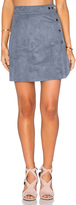 1 STATE Side Button A-Line Skirt