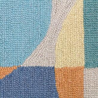 "Company C Colorfields Geometric Wool Yellow/Blue/Gray Area Rug CompanyC Rug Size: Rectangle 5'6"" x 8'6"""