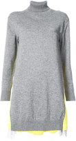 Sacai contrast back tunic sweater - women - Cotton/Nylon/Cupro/Wool - 1