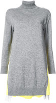 Sacai contrast back tunic sweater