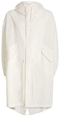 Jil Sander Lightweight Logo Hooded Overcoat