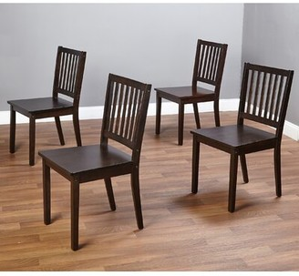 Andover Mills Raine Slat Back Side Chair Color: Espresso