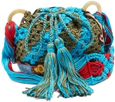 Peter Pilotto Dinosaur-appliqué crochet-cotton shoulder bag