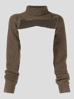 Peter Do Oversized Boucle Knit Shrug