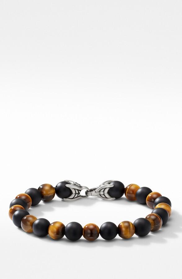 DAVID YURMAN Spiritual Bead Bracelet Sterling Silver w// Red Tiger/'s Eye 8mm $450
