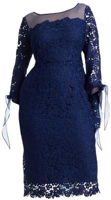 Marina Rinaldi, Plus Size Lace Cocktail Dress