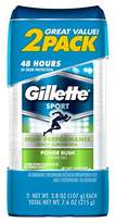 Gillette Clear Gel Antiperspirant/Deodorant, Power Rush 3.8 oz each 2 ea (Pack of 2)