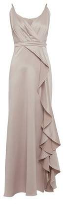 Dorothy Perkins Womens Showcase Neutral Bridesmaids 'Issy' Satin Camisole Maxi Dress