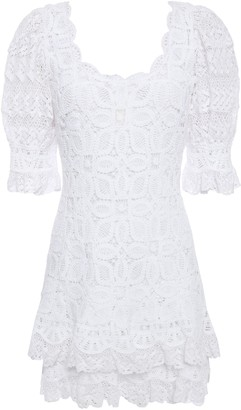 Jonathan Simkhai Tiered Crocheted Cotton Mini Dress