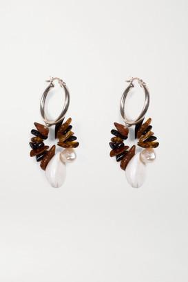 Santangelo Pacha Silver Multi-stone Hoop Earrings