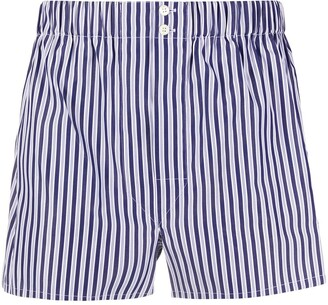 Brioni Striped Print Shorts
