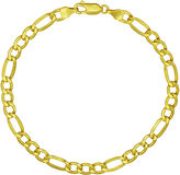 JCPenney FINE JEWELRY Made in Italy 18K Yellow Gold 8 Figaro Bracelet