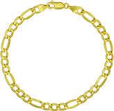 JCPenney FINE JEWELRY Majestique18K Yellow Gold 8 Figaro Bracelet