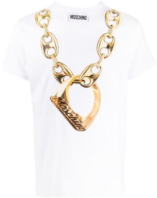 Moschino chain print short-sleeved T-shirt