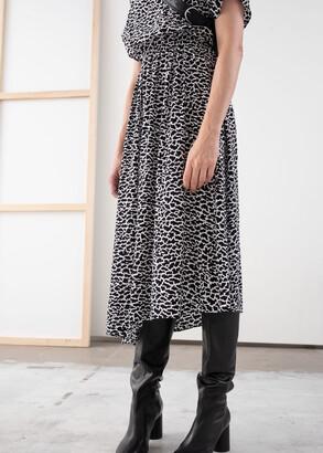 And other stories Asymmetric Satin Midi Dress
