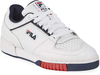 Fila Men's Targa Leather Low-Top Sneakers