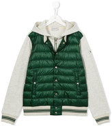 Moncler padded front hooded jacket - kids - Cotton/Feather Down/Polyamide - 14 yrs