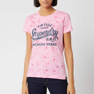Superdry Women's Vintage Goods Star Aop Entry T-Shirt