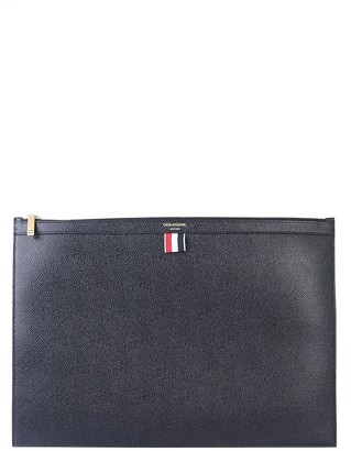 Thom Browne Large Flat Leather Clutch