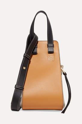 Loewe Hammock Small Color-block Textured-leather Shoulder Bag - Beige