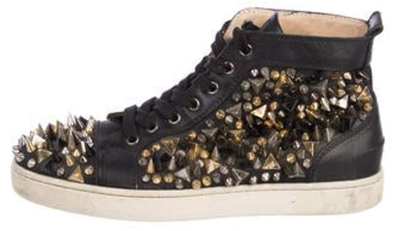 989d1541360 Studded Leather Sneakers black Studded Leather Sneakers