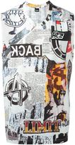 Kokon To Zai newspaper print tank top - men - Cotton - M
