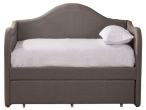 Hillsdale Porter Upholstered Arched Daybed with Trundle - Twin