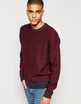Original Penguin Lambs Wool Knitted Sweater