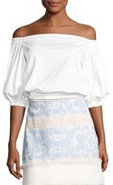 Alexis Vitali Off-The-Shoulder Ruffle Top, White