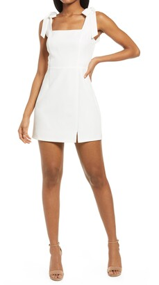 Lulus Your Sweetie Tie Strap Minidress