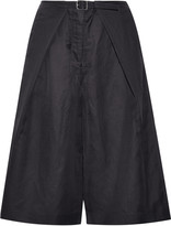 Tibi Pleated piqué culottes