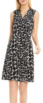 Vince Camuto Women's Stamp Print Jersey Wrap Dress