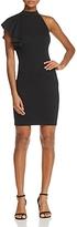 Aqua Asymmetric Ruffle Body-Con Dress - 100% Exclusive