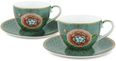 Pip Studio Spring To Life Cup & Saucers - Set of 2 - Green