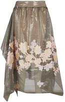 Fendi Embroidered Midi Skirt